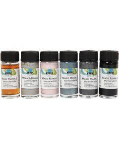Magic Marble, couleurs pastel, 6x20 ml/ 1 Pq.