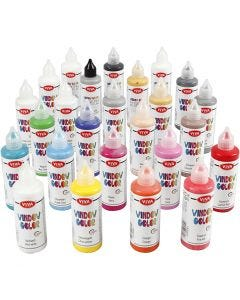 Window Color, couleurs assorties, 25x90 ml/ 1 Pq.