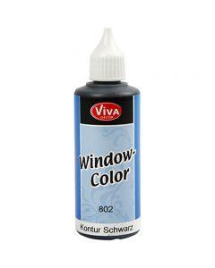 Window Color Contour, noir, 80 ml/ 1 flacon