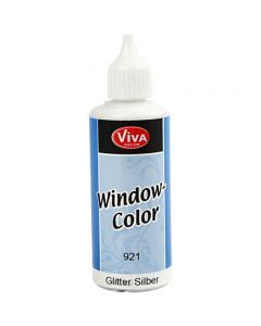 Window Color, argent scintillant, 80 ml/ 1 flacon