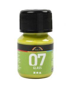 Peinture A-Color Glass, kiwi, 30 ml/ 1 flacon