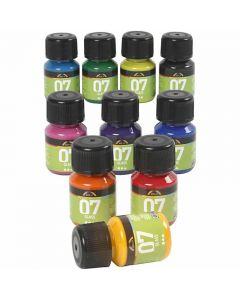 Peinture A-Color Glass, couleurs assorties, 10x30 ml/ 1 Pq.