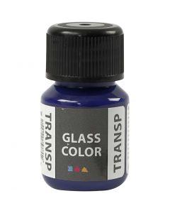 Glass Color transparente, bleu brillant, 30 ml/ 1 flacon