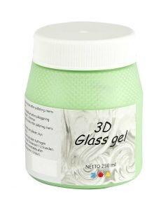 3D Glass Gel, vert, 250 ml/ 1 boîte