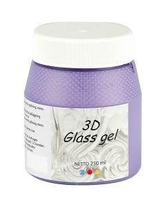 3D Glass Gel, lilas, 250 ml/ 1 boîte