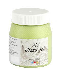 3D Glass Gel, vert clair, 250 ml/ 1 boîte