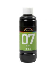 Peinture A-Color Glass, noir, 250 ml/ 1 flacon