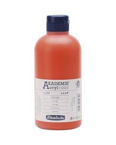 Schmincke AKADEMIE® Acryl color , semi transparent, orange (230), 500 ml/ 1 flacon