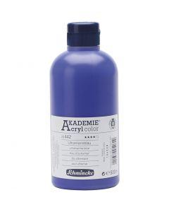 Schmincke AKADEMIE® Acryl color , semi transparent, ultramarine blue (442), 500 ml/ 1 flacon