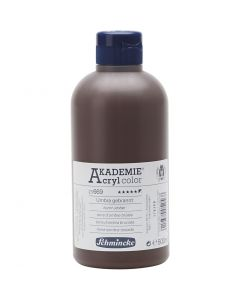 Schmincke AKADEMIE® Acryl color , opaque, burnt umber (669), 500 ml/ 1 flacon