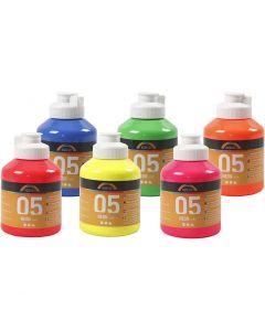 A-Color Fluo, couleurs néons, 6x500 ml/ 1 boîte