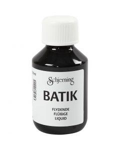 Peinture Batik pour textile, noir, 100 ml/ 1 flacon