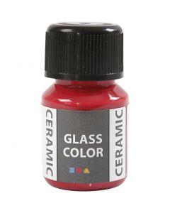 Peinture céramique Glass Color, rouge carmin, 35 ml/ 1 flacon