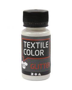 Peinture Textile Color, paillettes, transparent, 50 ml/ 1 flacon