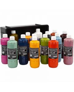 Textile Color, couleurs assorties, 15x500 ml/ 1 Pq.