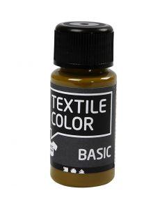 Peinture Textile Color, brun olive, 50 ml/ 1 flacon
