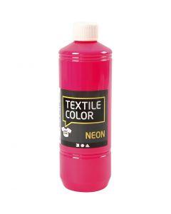 Peinture Textile Color, rose néon, 500 ml/ 1 flacon
