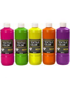 Textile Color, couleurs assorties, 5x500 ml/ 1 Pq.