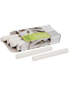 Craie sans poussière, L: 8 cm, d: 10 mm, blanc, 10x10 pièce/ 1 Pq.