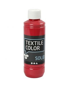 Textile Solid, opaque, rouge, 250 ml/ 1 flacon