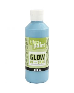 Glow in the dark, bleu clair fluorescent, 250 ml/ 1 flacon
