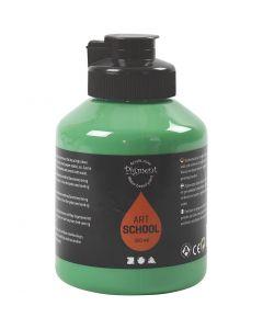 Peinture Pigment Art School, opaque, medium green, 500 ml/ 1 flacon