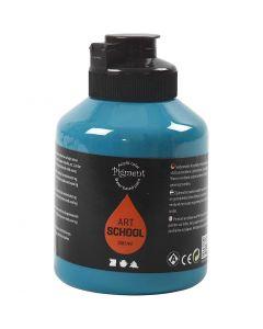Peinture Pigment Art School, opaque, turquoise, 500 ml/ 1 flacon
