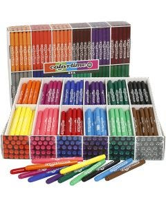 Feutres Colortime, trait 5 mm, couleurs assorties, 576 pièce/ 1 Pq.