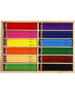 Crayons de couleur, mine 5 mm, JUMBO, couleurs assorties, 144 pièce/ 1 Pq.