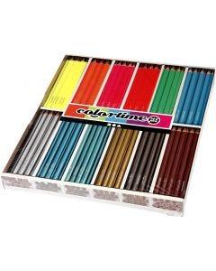 Crayons de couleur Colortime , L: 17,45 cm, mine 4 mm, 144 pièce/ 1 Pq.