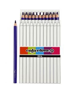 Crayons de couleur Colortime , L: 17,45 cm, mine 5 mm, JUMBO, violet, 12 pièce/ 1 Pq.