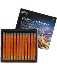 Crayons cire aquarellables, L: 9,3 cm, burnt umber (328), 12 pièce/ 1 Pq.