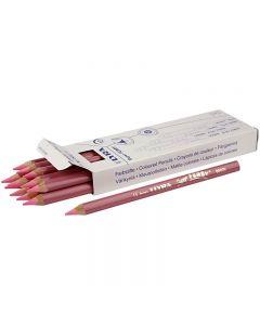 Crayons de couleur Lyra Super Ferby 1, L: 18 cm, mine 6.25 mm, rouge clair, 12 pièce/ 1 Pq.