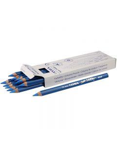 Crayons de couleur Lyra Super Ferby 1, L: 18 cm, mine 6.25 mm, bleu, 12 pièce/ 1 Pq.