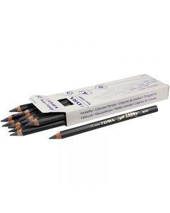 Crayons de couleur Lyra Super Ferby 1, L: 18 cm, mine 6.25 mm, gris, 12 pièce/ 1 Pq.