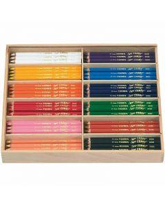 Crayons de couleur Lyra Super Ferby 1, L: 18 cm, mine 3 mm, couleurs assorties, 144 pièce/ 1 Pq.