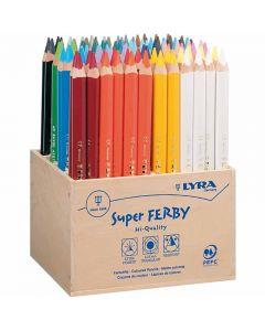 Crayons de couleur Lyra Super Ferby 1, L: 18 cm, mine 3 mm, couleurs assorties, 96 pièce/ 1 Pq.