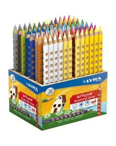 Crayons de couleur Groove, L: 18 cm, mine 4.25 mm, couleurs assorties, 96 pièce/ 1 Pq.