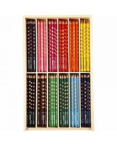 Crayons de couleur Groove Slim, L: 18 cm, mine 3,3 mm, couleurs assorties, 12x12 pièce/ 1 Pq.