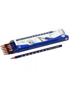 Crayons noirs Groove Graphite, d: 7,2 mm, dureté HB, mine 3,3 mm, 12 pièce/ 1 Pq.