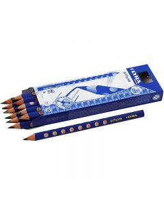 Crayons noirs Groove Graphite, d: 10 mm, dureté B, mine 4,25 mm, 12 pièce/ 1 Pq.