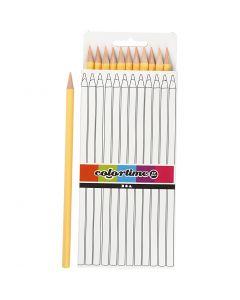 Crayons de couleur Colortime, L: 17 cm, mine 3 mm, 12 pièce/ 1 Pq.