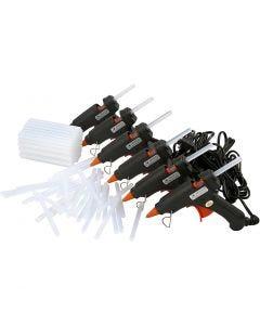 Mini pistolets à colle avec colle, 130 °C - Basse température, 1 set