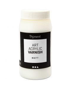 Vernis Art Acrylic, mate, transparent mat, blanc, 500 ml/ 1 boîte