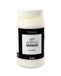 Vernis Art Acrylic, mate, blanc, brillant transparent, 500 ml/ 1 boîte