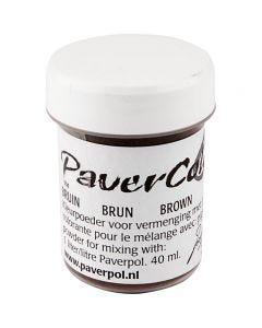 Paver Color, brun, 40 ml/ 1 flacon