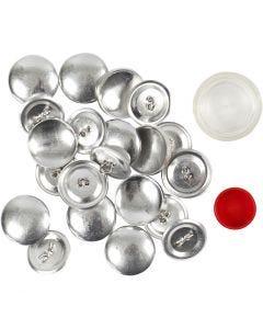 Boutons à décorer, d: 22 mm, 12 pièce/ 1 Pq.