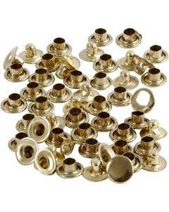 Rivets, d: 7 mm, laiton, 50 pièce/ 1 Pq.