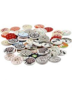 Boutons designs, d: 20 mm, Le contenu peut varier , 180 pièce/ 1 Pq.