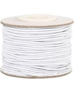 Cordon élastique, ép. 1 mm, blanc, 25 m/ 1 rouleau